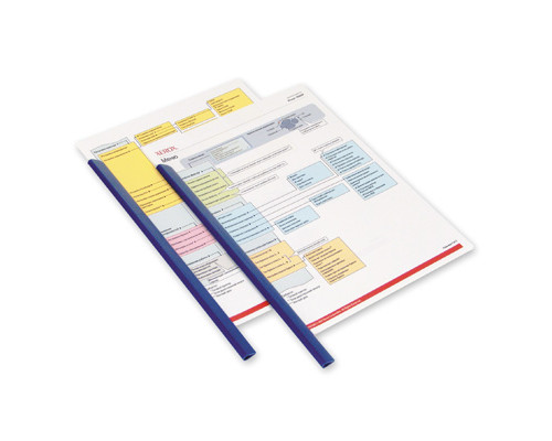 Скрепкошина для брошюровки Durable А4 синяя до 60 листов - (60803К)