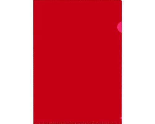Папка-уголок жесткий пластик красная А4 120 мкм 20 штук в упаковке - (627962К)