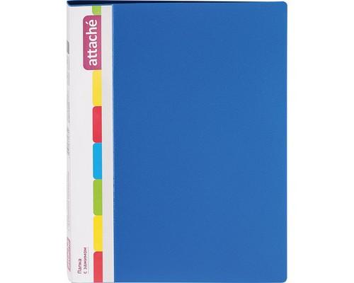Папка с зажимом Attache А4 0.7 мм синяя до 150 листов с карманом для CD и визиток - (33176К)