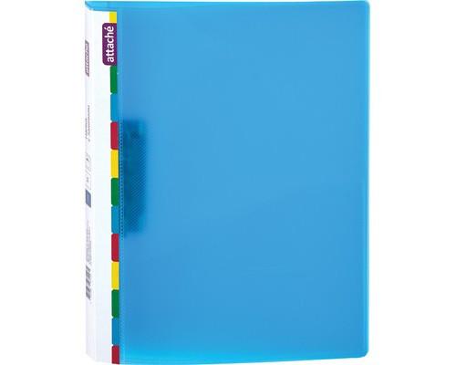 Папка с зажимом Attache Diagonal А4 0.6 мм синяя до 150 листов - (391371К)