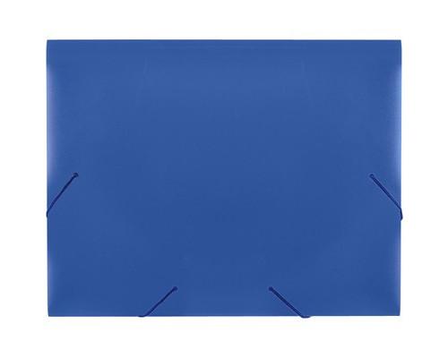 Папка на резинках Attache А4 пластиковая синяя 0.6 мм до 200 листов - (34482К)