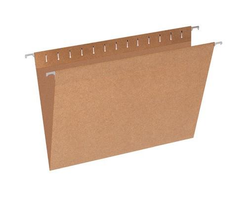 Подвесная папка Эконом Foolscap до 80 листов коричневая 10 штук в упаковке - (327188К)