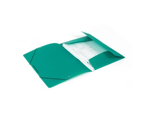 Папка на резинках Attache А4 пластиковая зеленая 0.45 мм до 200 листов - (112302К)