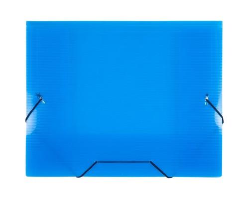 Папка на резинках Attache А5 пластиковая синяя 0.6 мм до 100 листов - (47732К)