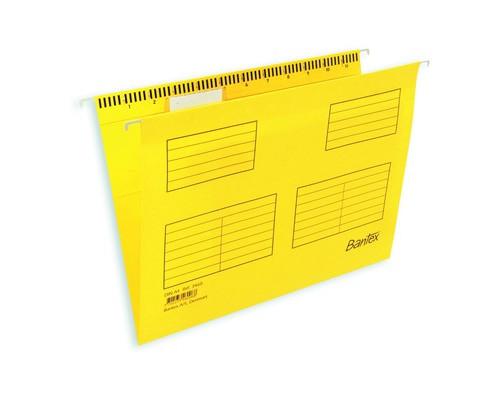 Подвесная папка Bantex Foolscap до 250 листов желтая 25 штук в упаковке - (87118К)