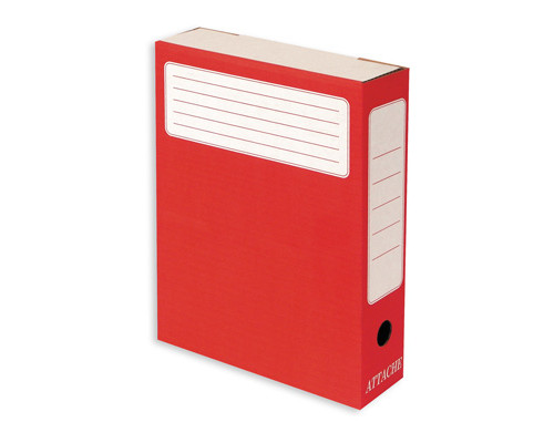 Короб архивный Attache микрогофрокартон красный 252х75х323 мм - (26076К)