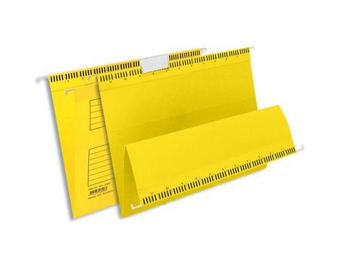 Подвесная папка Bantex А4 до 250 листов желтая 25 штук в упаковке - (87114К)