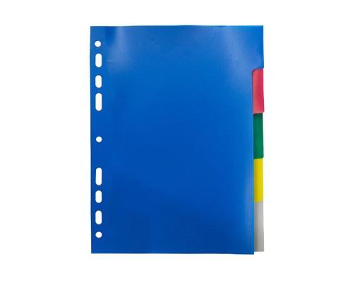 Разделитель листов Attache А5 пластиковый 5 листов цветной 210х148 мм - (474675К)