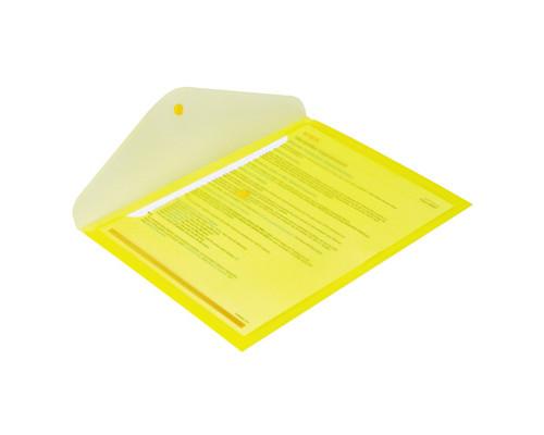 Папка-конверт Attache на кнопке А4 желтая 0.18 мм - (49095К)
