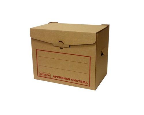 Короб архивный микрогофрокартон бурый 400х335х265 мм - (136908К)