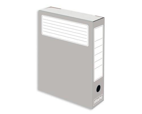 Короб архивный Attache микрогофрокартон серый 252x75x322 мм 5 штук в упаковке - (632313К)