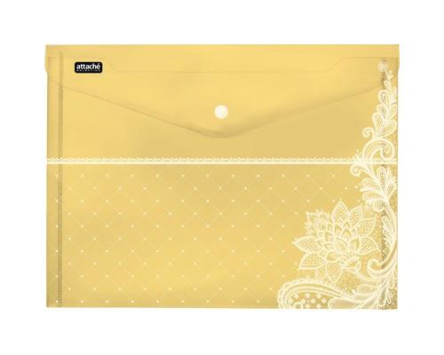 Папка-конверт Attache Selection Амели на кнопке А4 в ассортименте 0.18 мм 6 штук в упаковке - (476524К)