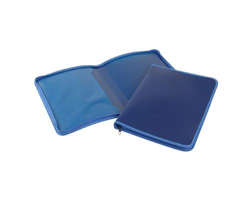Папка-конверт Attache на молнии А4 пластиковая синяя 0.5 мм - (142957К)