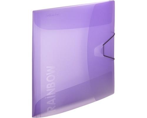 Папка на резинках Attache Rainbow А4 пластиковая фиолетовая 0.45 мм до 200 листов - (488254К)