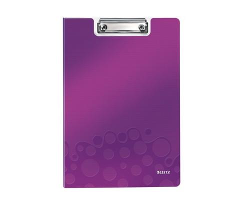Папка-планшет с крышкой Leitz Wow А4 пластиковая лиловая 2.8 мм - (400930К)
