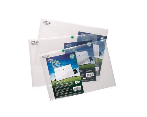 Папка-конверт Bio2 на кнопке А4 прозрачная 0.2 мм - (210638К)