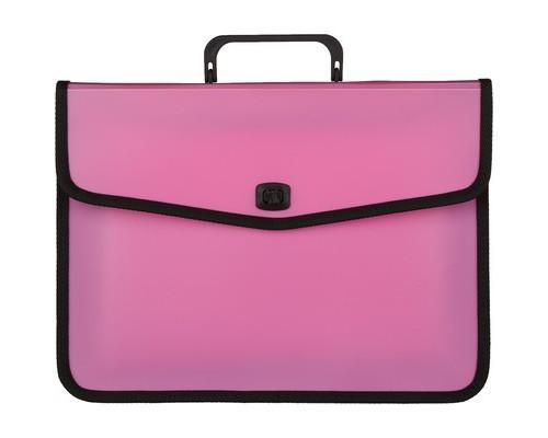 Папка-портфель Attache Fantasy пластиковая А4 розовая 370x280 мм 1 отделение - (476511К)