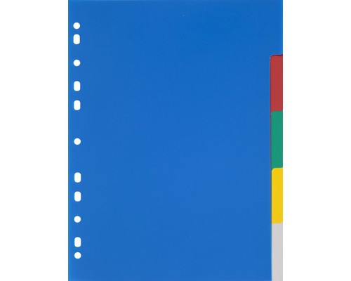 Разделитель листов Attache А4 пластиковый 5 листов цветной 290х210 мм - (347860К)