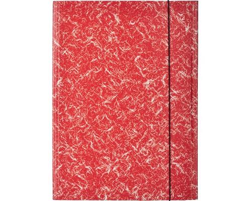 Папка на резинках Attache картонная красная 370 г/кв.м до 200 листов - (478270К)