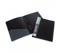 Папка-скоросшиватель с пружинным механизмом Attache пластиковая А4 черная 0.7 мм до 150 листов - (33053К)