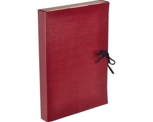 Папка архивная Attache с завязками бумвинил красная складная 35 мм - (393566К)