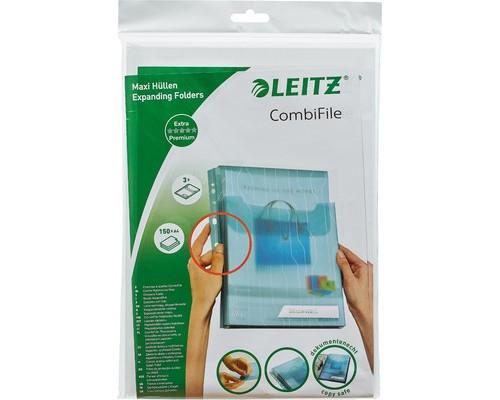 Файл-вкладыш Leitz А4 200 мкм гладкий прозрачный 3 штуки в упаковке - (219370К)