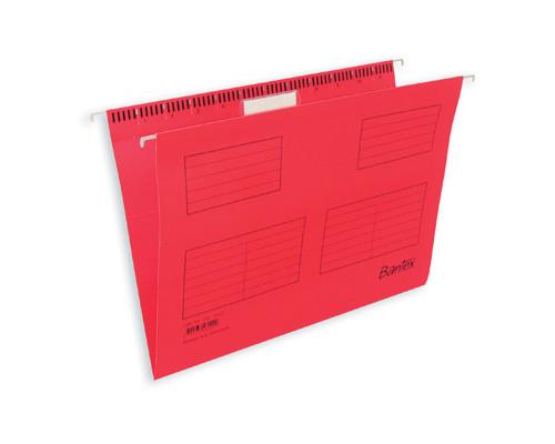 Подвесная папка Bantex А4 до 250 листов красная 25 штук в упаковке - (87115К)