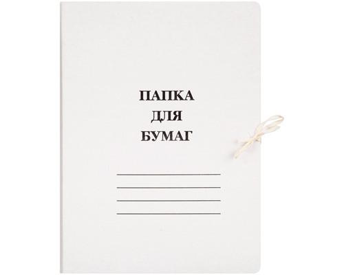Папка для бумаг с завязками 440 г/кв.м мелованный картон - (132К)