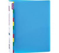 Папка-скоросшиватель с пружинным механизмом Attache Diagonal пластиковая А4 синяя 0.6 мм до 150 листов - (391374К)