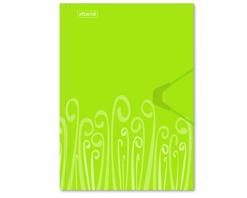 Папка на резинке Attache Fantasy А4 пластиковая салатовая 0.45 мм до 200 листов - (314642К)