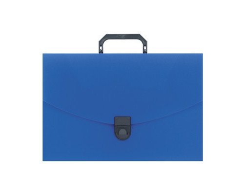 Папка-портфель Attache пластиковая A4 синяя 240x317 мм 1 отделение - (112335К)