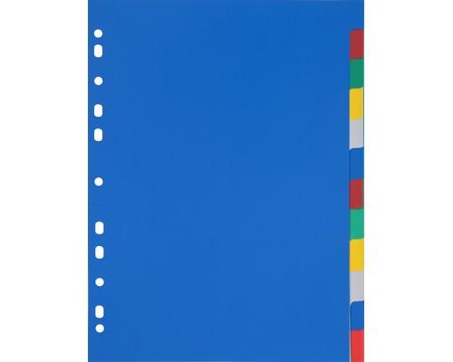 Разделитель листов Attache А4 пластиковый 12 листов цветной 290х210 мм - (347861К)