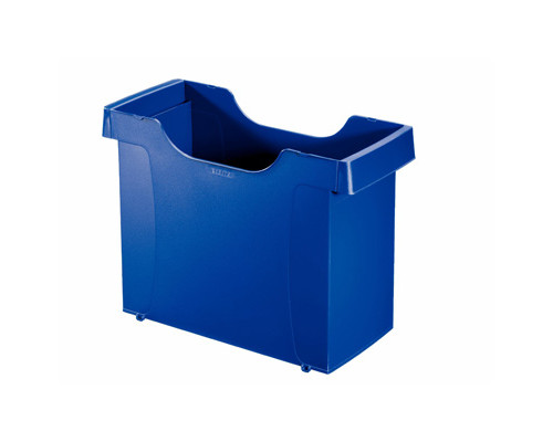 Короб архивный для подвесных папок Leitz Plus А4 пластиковый синий нескладной - (327668К)