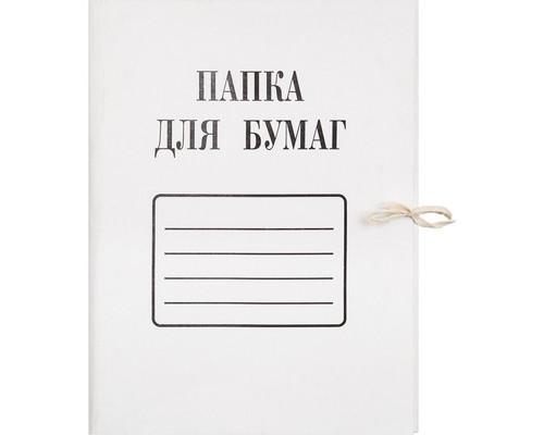 Папка для бумаг с завязками 280 г/кв.м мелованный картон - (44669К)