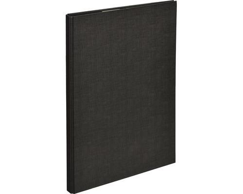 Папка-планшет Attache А4 с верхней створкой черная 1,75 мм - (611513К)