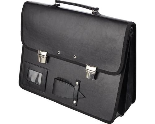 Папка-портфель Attache для секретных документов искусственная кожа черная 380x290x140 мм 2 отделения - (611484К)