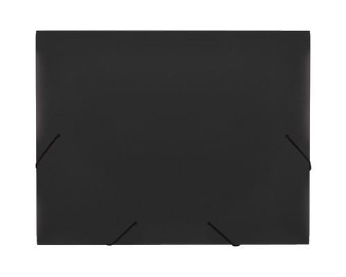 Папка на резинках Attache А4 пластиковая черная 0.7 мм до 200 листов - (34481К)