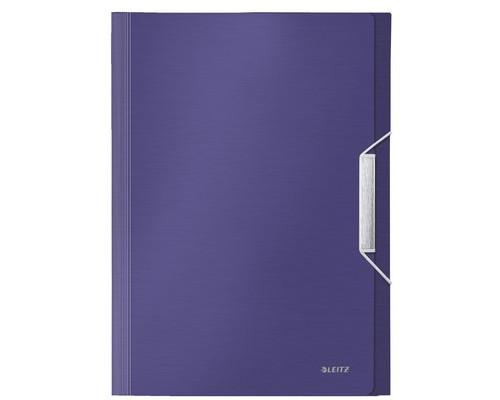 Папка-портфель Leitz Style пластиковая А4 синий титан 254x330 мм 6 отделений - (476515К)