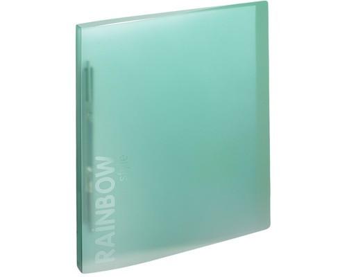 Папка-скоросшиватель с пружинным механизмом Attache Rainbow Style пластиковая А4 зеленая 0.45 мм до 150 листов - (488263К)