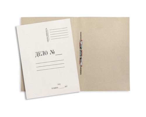 Папка-скоросшиватель Дело № картонная А4 до 150 листов белая 280 г/кв.м - (8503К)