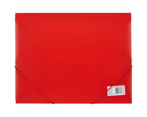 Папка на резинках Attache А4 пластиковая красная 0.45 мм до 200 листов - (112303К)