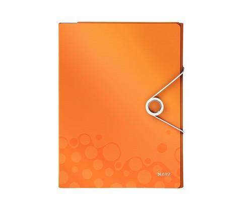 Папка органайзер Leitz WOW А4 до 160 листов оранжевая 4 отделения - (622557К)