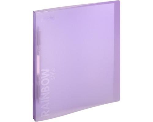 Папка-скоросшиватель с пружинным механизмом Attache Rainbow Style пластиковая А4 фиолетовая 0.45 мм до 150 листов - (488262К)