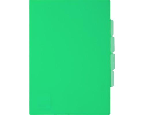 Папка-уголок прозрачный пластик зеленая А4 150 мкм 3 отделения - (319779К)