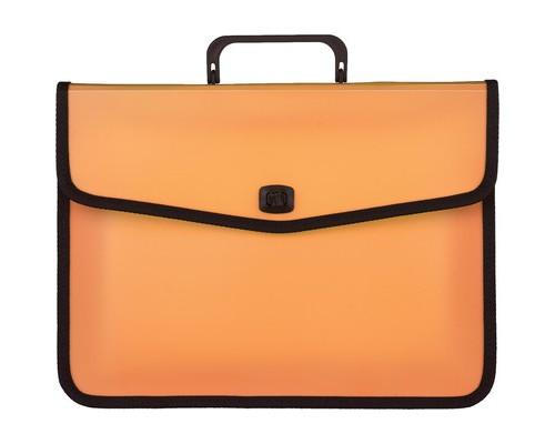 Папка-портфель Attache Fantasy пластиковая А4 оранжевая 370x280 мм 1 отделение - (476510К)