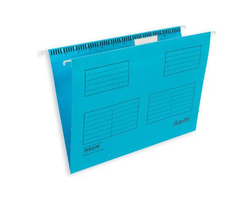 Подвесная папка Bantex А4 до 250 листов голубая 25 штук в упаковке - (87116К)