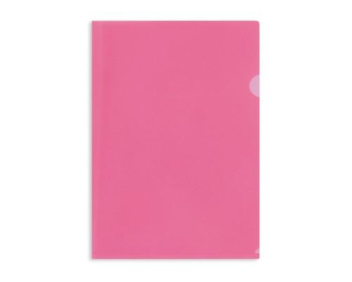 Папка-уголок жесткий пластик красная А4 180 мкм 10 штук в упаковке - (627972К)