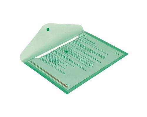 Папка-конверт Attache на кнопке А4 зеленая 0.18 мм - (49096К)