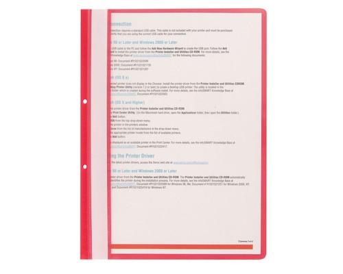 Папка-скоросшиватель с перфорацией на корешке Attache прозрачная пластиковая А4 красная 10 штук в упаковке - (495382К)