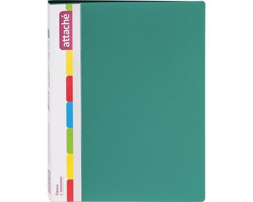 Папка с зажимом Attache А4 0.7 мм зеленая до 150 листов с карманом для CD и визиток - (33178К)